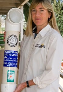 A fishing line recycling tube.