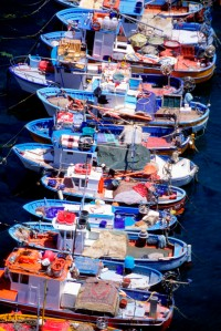 Fishing boats in Sorrento, Italy