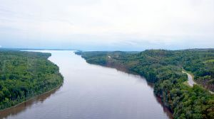 Penobscot River as it empties into Penobscot Bay.  Photo: Wikipedia Commons