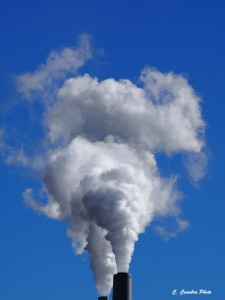 Plume from coal-fired power plant